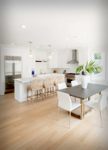 New Canaan new construction kitchen and dining area