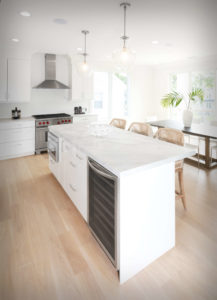 New Canaan new construction kitchen showing kitchen island
