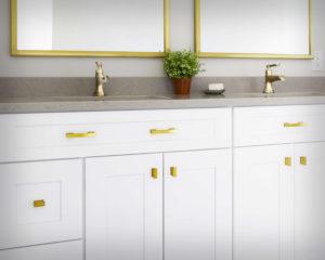 Bathroom vanity detail.