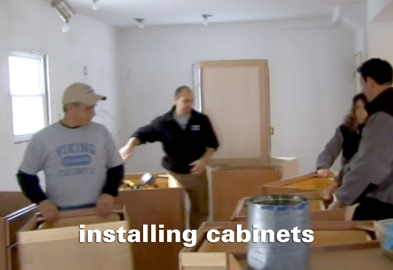 Flip This House – Installing Cabinets