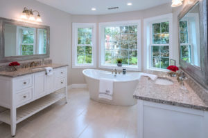 Bathroom vanity installed by Viking Kitchens at Gledhill Estates.