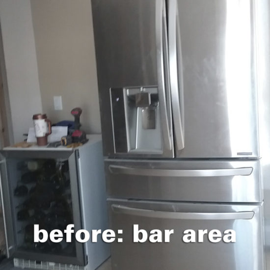 Hamden Kitchen – Bar Area Before