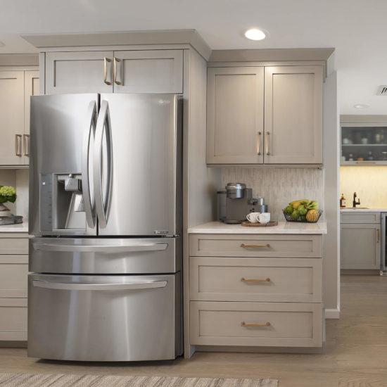 Hamden Kitchen – Fridge Cabinets