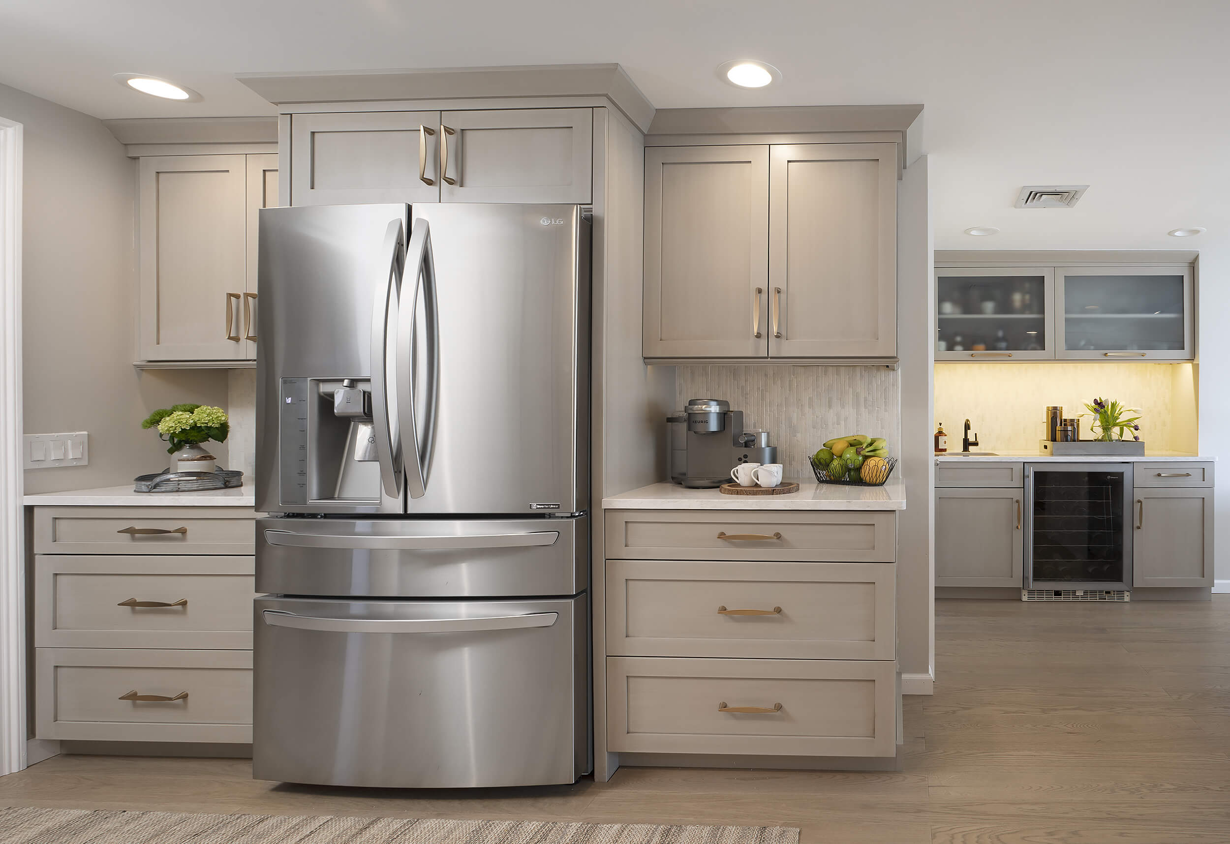 Hamden Kitchen - Fridge Cabinets | Viking Kitchen Cabinets