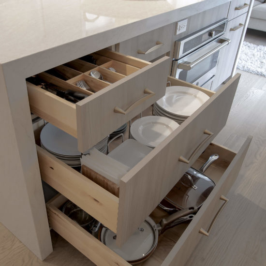 Hamden Kitchen – Island Drawer Details