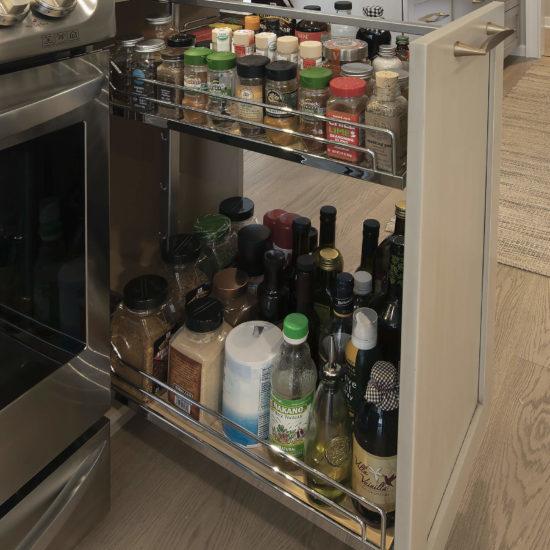 Hamden Kitchen – Spice Cabinet Details