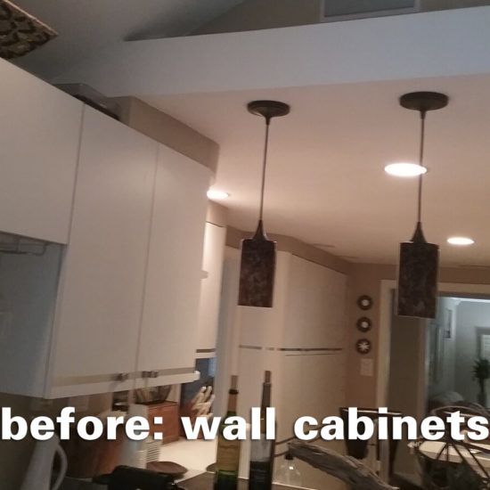 Hamden Kitchen – Wall Cabinets Before