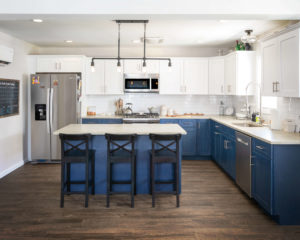 View of the kitchen of this Hamden remodel