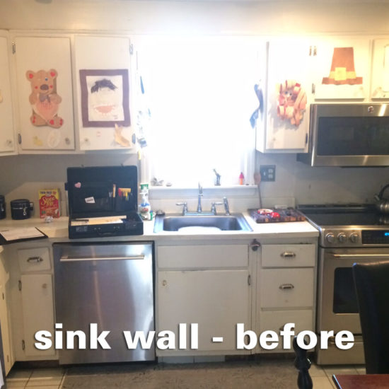 Sheridan Kitchen – sink wall before