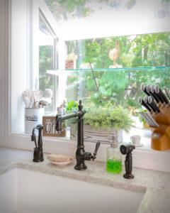 South Windsor kitchen remodel sink detail