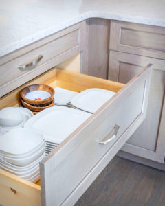 Trumball Kitchen Remodel Creative Island Rear Cabinet Pot and Pan Drawer Detail
