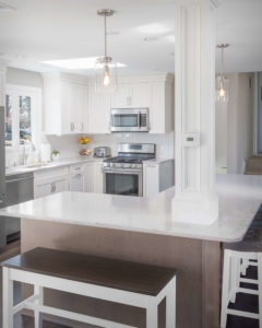 Trumball kitchen remodel with creative kitchen island design