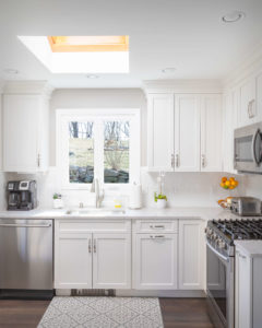 Trumball kitchen perimeter cabinets and countertop
