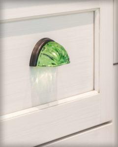 Glass cabinet hardware detail