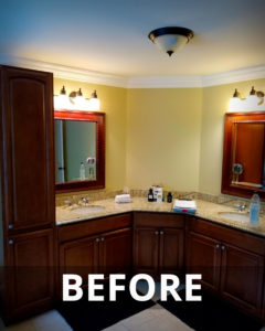Higganum bathroom remodel before.