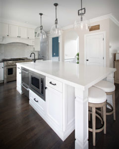 Farmhouse modern kitchen remodel island.
