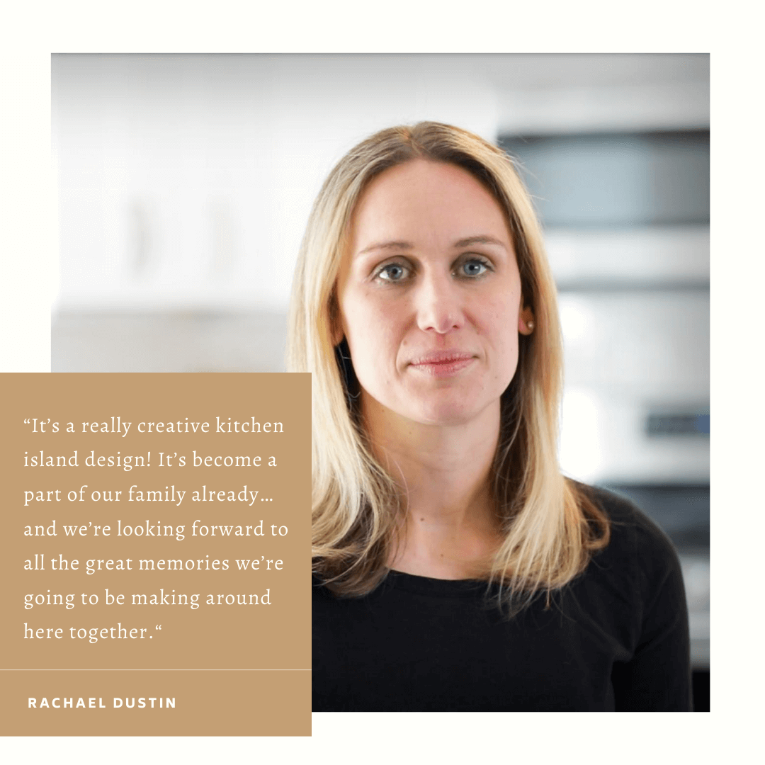 Video of homeowner Rachael Dustin sharing why she loves working with Viking Kitchens on her kitchen remodel.