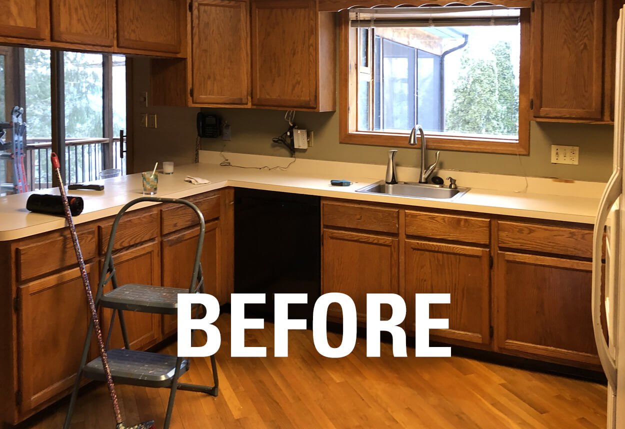 Kitchen Remodel with Cherry Wood Cabinets   Viking Kitchen Cabinets