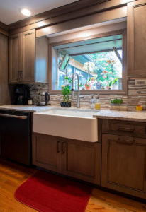 View of the sink area AFTER work on this kitchen remodel in Wallingford, CT.